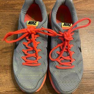 Nike Dual Fusion Run 3 Shoes Orange Yellow Gray 7